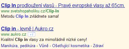 Nové odkazy sitelinks v inzerátech Google AdWords